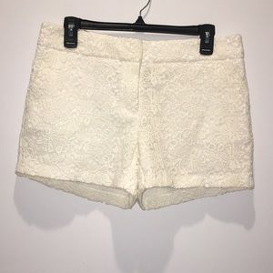 Cynthia Rowley Cream Shorts Sz 8